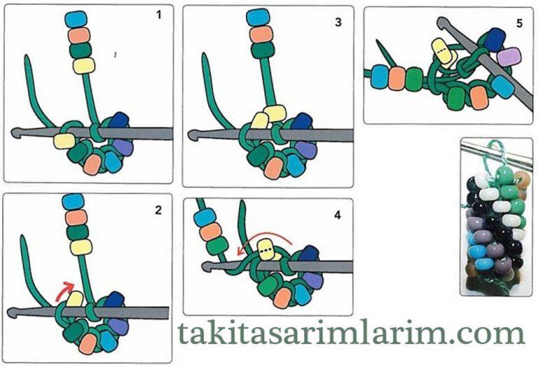Схемы вязания бисером жгутов крючком