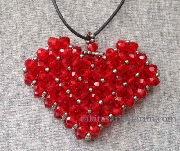 kalp modeli cevsen kolye yapimi