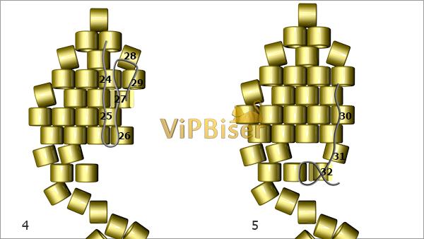 yaprak modeli boncuk bileklik yapimi (3)
