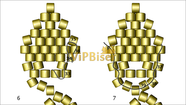 yaprak modeli boncuk bileklik yapimi (4)