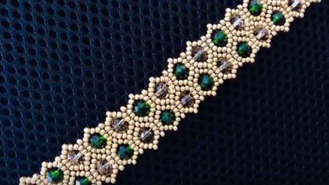 kristal boncuku bileklik modeli yapimi